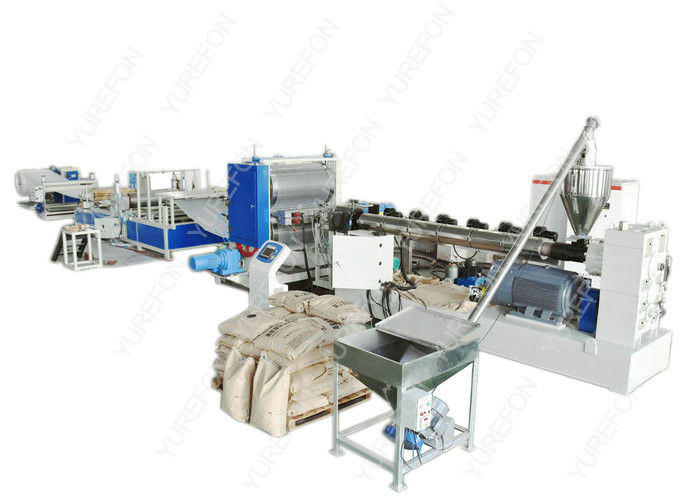 Full Automatic Plastic Sheet Extrusion Line , Colorful Dimpled Drainage Membrane Extruder